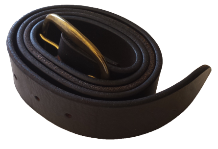 coiled leather belt