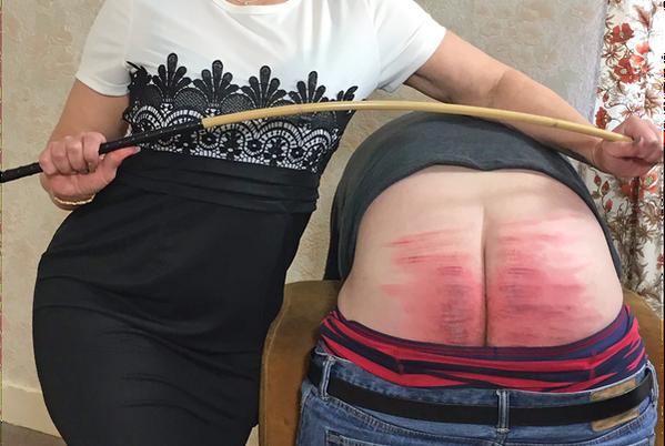 spanking cane marks
