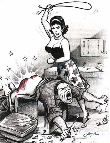 electric cord spanking