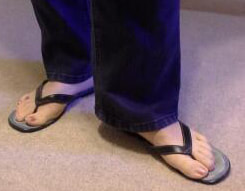 plastic soled thong sandals