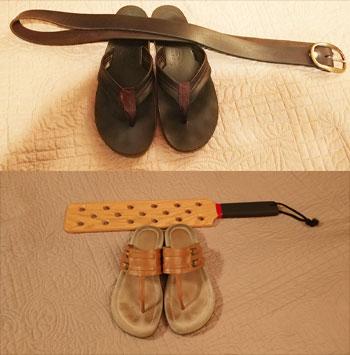 spanking sandal associations