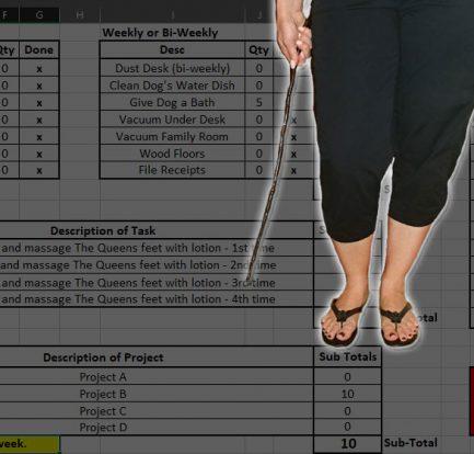 Accountability Task Sheet Slide