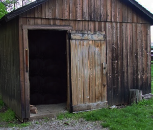 woodshed with strap