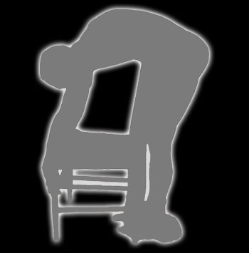 man bent over chair for a spanking