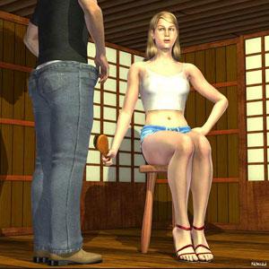 fm dd hairbrush spanking