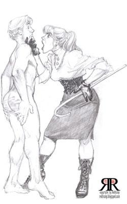 wife spanked husband