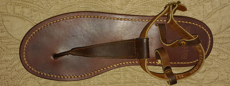 leather t-strap sandal