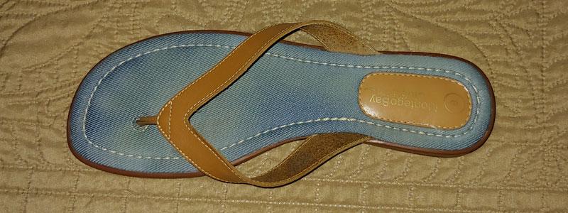 tan spanking sandal