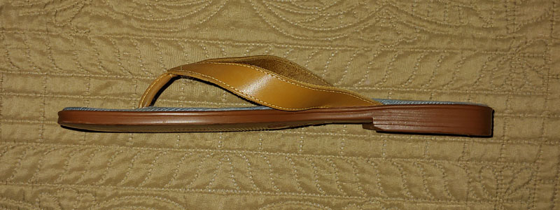 tan spanking sandal side