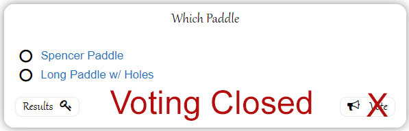 which paddle poll closed