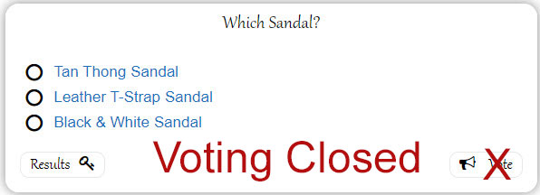 which sandal poll closed